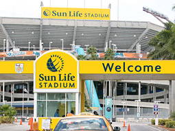 Sun Life Financial's permanent signage will be up in time for next weekend's Pro Bowl.