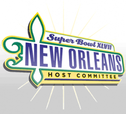 The logo of the host committee for next year's Super Bowl