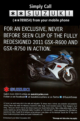 An ad from a recent Suzuki campaign