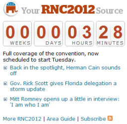 The paper's website is counting down to the (now-delayed) convention.