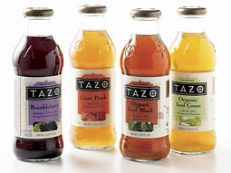 As part of the new licensing agreement, Starbucks' Tazo will be bottled by a Pepsi-Unilever partnership.