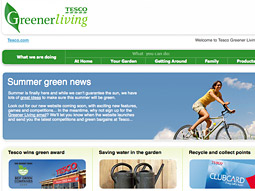 Tesco encourages the use of allotments to 'grow your own' produce on its website.