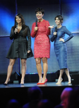E! stars Kim Kardashian, Kris Jenner and Kourtney Kardashian