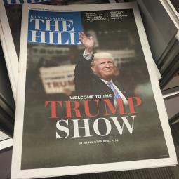 A special edition of The Hill distributed at the Republican National Convention, as seen at the Huntington Convention Center in Cleveland on July 17, 2016.