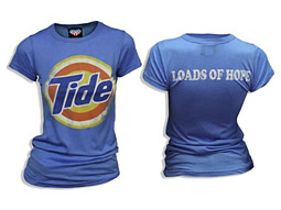More than 2,000 Tide T-shirts were sold for charity at P&G's 'Digital Hack Night.'