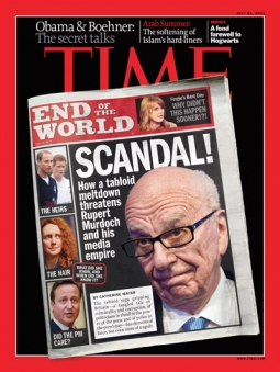 Time magazine last year on the News Corp. scandal