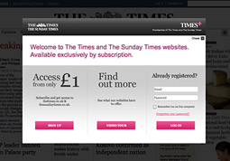 The current Times paywall is essentially an 'all or nothing' offering, shutting out non-subscribers from almost all content.