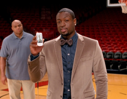 Charles Barkley and Dwyane Wade in a T-Mobile commercial.