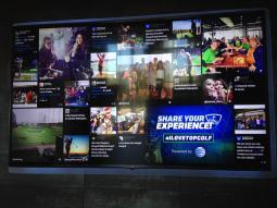 AT&T Social Wall.