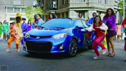 Ad from earlier this year for Corolla.