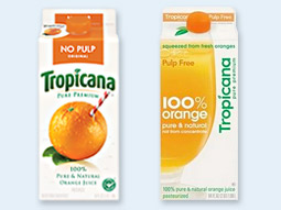 The new Tropicana Pure Premium packaging (right) had been on the market less than two months before the company scrapped the redesign.
