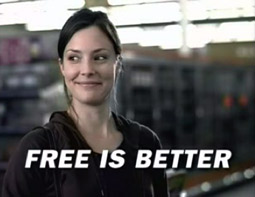 TurboTax ran ads for its Federal Free Edition with the tagline 'Free is better.'