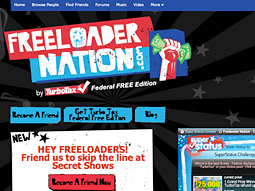 TurboTax's Freeloader Nation MySpace page.