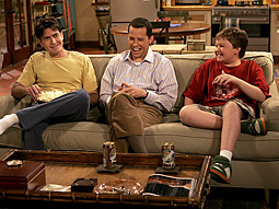 CBS's 'Two and a Half Men' ranks as Nielsen's fourth-most-watched syndicated show in its first year in syndication.