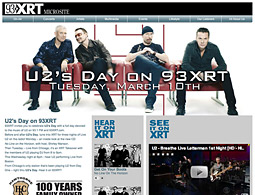 MillerCoors recently sponsored a U2 Day for CBS Radio's XRT radio station in Chicago to promote the release of U2's new album, 'No Line on the Horizon.'