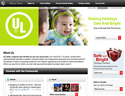 Underwriters Laboratories reached out to mommy bloggers to help push its 'UL Keeping the Holiday Safe and Bright' campaign..