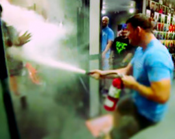 Guys play a prank with fire extinguishers on 'The Ultimate Fighter.'