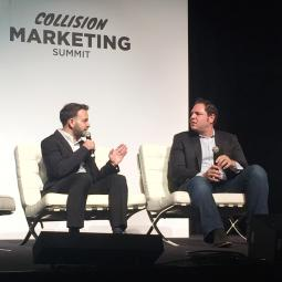 Twitter's Joel Lunenfeld on stage at Collision this week