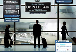 The 'Up in the Air' website
