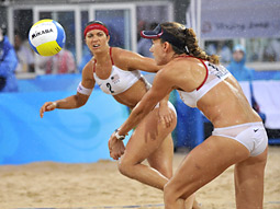 Prime time matches between bikini-clad volleyball teams may have helped boost the number of men between the ages of 18 to 24 who watched the Olympics.