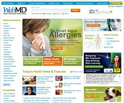 WebMD is cited in the study as an example of a content destination.