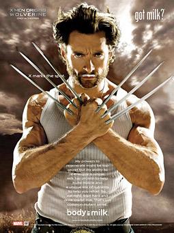 'Wolverine' milk-mustache ad