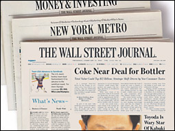 With the Wall Street Journal's New York metro section soon to arrive, could this (hypothetical) spread be greeting more local subscribers on their front doors?