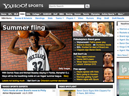 With the deal, Turner, which will exclusively sell all advertising for Yahoo's NBA, golf and Nascar pages, has become one of the biggest players in online sports content.