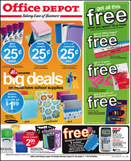 Office Depot typically spends about half its media budget on FSIs during the back-to-school months.