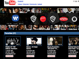 Warner musicians have generated more than a trillion views on YouTube, according to web video services firm TubeMogul.