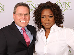 David Zaslav and Oprah Winfrey