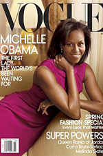 First lady: Ms. Obama is the second one to grace the cover.
