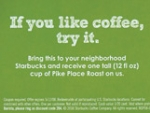 Starbucks Seeks Jolt From Another Mass Tactic