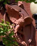 The Anheuser-Busch Budweiser Eagle atop the St. Louis brewery's Building 3.