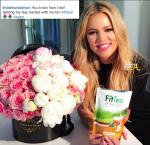 A social-media pitch by Khloe Kardashian caries the #spon hashtag.