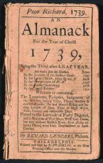 1739 edition of 'Poor Richard's Almanack'