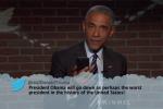 Watch Obama Read a Trump 'Mean Tweet' (and Respond) on Kimmel