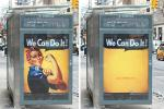 Clinton Foundation Ad Campaign Erases Women From Billboards, Conde Nast Magazines