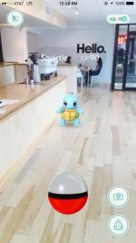 Squirtle Pokemon at Huge Café in Atlanta