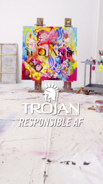 Trojan commissioned artists to create condom-inspired artwork that will be featured on Snapchat during the VMAs.