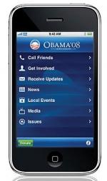 Obama on iPhone