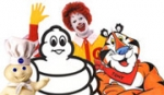 (From l.) The Pillsbury Doughboy, the Michelin Man, Ronald McDonald and Tony the Tiger.