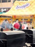 Snapple made its presence known throughout the event.