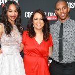 With Zoe Saldana and Victor Cruz at the Cosmo for Latinas Launch Party