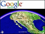 National Geographic linked its pictures, video and stories with Google Earth. When users click on a yellow-bordered icon, they can link to National Geographic web pages.