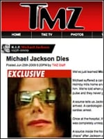 TMZ got the celebrity news break of the year when it was the first to report Mr. Jackson's death June 25.
