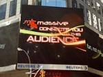 Microsoft Takes Over Times Square to Trumpet Gaming