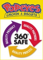 Popeyes has created a quality icon that it is now using for its Web site and in-store materials.
