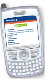 Hewlett-Packard's sponsorship is allowing Reuters to drop subscription costs for its mobile content.