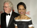 'Time' editor Jim Kelly and Secretary of State Condoleezza Rice at Time Magazine's 100 Most Influential People black-tie gala.